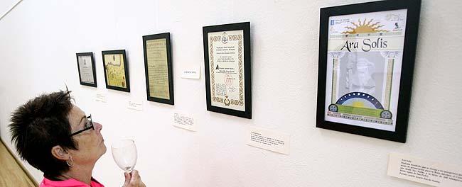 Exposición de certificados de peregrinación